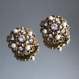 Vintage Cluster Earrings